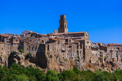 Pitigliano medieval town in Tuscany Italy. Architecture background Royalty Free Stock Image