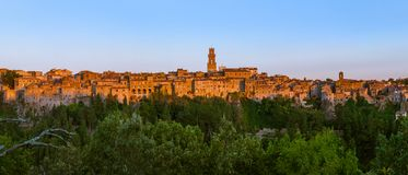 Pitigliano medieval town in Tuscany Italy. Architecture background stock photos