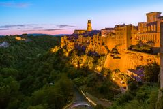 Pitigliano medieval town in Tuscany Italy. Architecture background royalty free stock photo