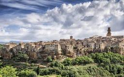 Pitigliano, middeleeuws dorp van Toscanië - Italië Royalty-vrije Stock Afbeeldingen
