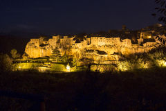 Pitigliano by night Stock Images