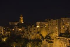 Pitigliano by night Royalty Free Stock Photos