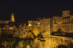 Pitigliano by night Royalty Free Stock Photography