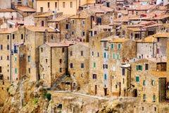 Pitigliano stad Tuscany Italien Arkivfoto