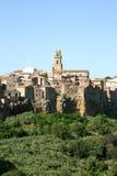 Pitigliano (Toscanië, Italië) Stock Foto