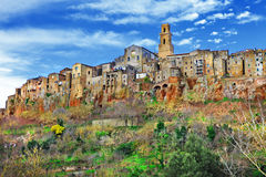 Pitigliano, Toscanië, Italië stock afbeelding