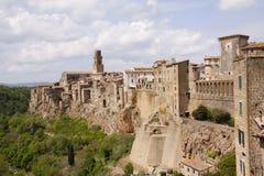 Pitigliano, Toskana, Italien Stockbild