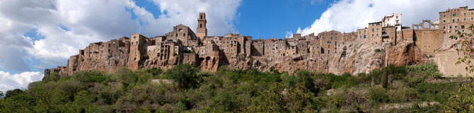 Pitigliano town Stock Photo