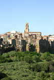 Pitigliano (Tuscany, Italien) Arkivfoto