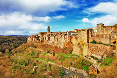 Pitigliano Tuscany, Italien arkivfoto