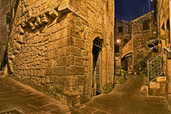 Pitigliano, Tuscany, Italy: alley in the old town Stock Image