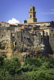 Pitigliano, Tuscany koloru córek wizerunku matka dwa Obraz Royalty Free