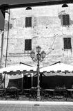 Pitigliano, Tuscany, old city. Black and white photo Stock Images