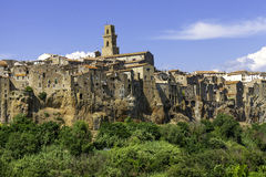 Pitigliano, Tuscany, old city. Color image Royalty Free Stock Photography