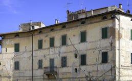 Pitigliano, Tuscany, old palace facade. Color image Stock Photo