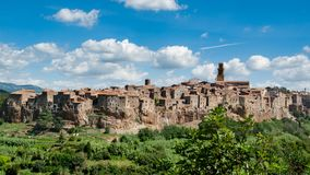Pitigliano in Tuscany stock image