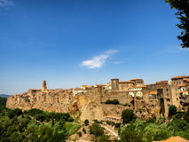 Pitigliano in Umbria with surrounding walls Royalty Free Stock Photography