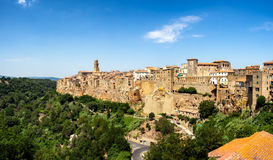 Pitigliano in Umbria with surrounding walls Stock Photography