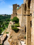 Pitigliano in Umbria with surrounding walls Royalty Free Stock Photo