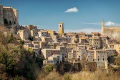 Pitigliano Vieille ville dans la province de Grosseto, Italie Photos stock