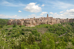 Pitigliano village Stock Photography