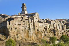 Pitigliano Village Stock Image