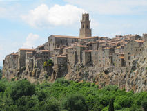 Pitigliano in Tuscany, Italy Stock Photography
