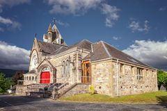 Pitlochry church, in the county of Perthshire in Scotland royalty free stock photography