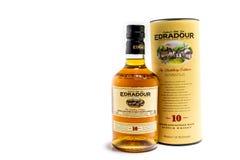 Pitlochry, Schotland - Januari 31 2018: De Edradour-distilleerderij is de Distilleerderij van het smalles Enige Mout van de werel Royalty-vrije Stock Foto's