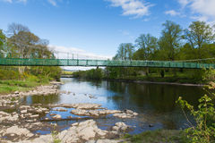 Pitlochry Scotland UK view of River Tummel in Perth and Kinross a popular tourist destination Stock Images