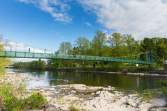 Pitlochry Scotland UK view of River Tummel in Perth and Kinross a popular tourist destination pan Stock Photo