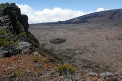 Piton de la Fournaise volcano on La Reunion island Stock Photography