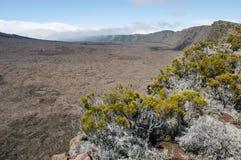 Piton de la Fournaise volcano on La Reunion island Royalty Free Stock Photo