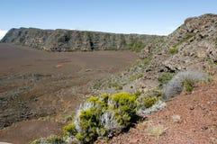 Piton de la Fournaise volcano on La Reunion island Royalty Free Stock Images