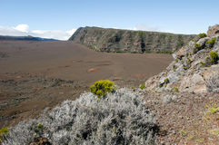 Piton de la Fournaise volcano on La Reunion island Stock Photography