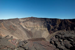 Piton de la Fournaise volcano. View of dolomieu crater of the Piton de la Fournaise volcano on Reunion Island Stock Photo