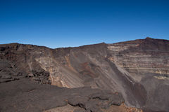 Piton de la Fournaise volcano. View of dolomieu crater of the Piton de la Fournaise volcano on Reunion Island Stock Photos