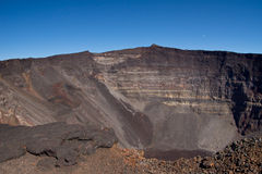 Piton de la Fournaise volcano. View of dolomieu crater of the Piton de la Fournaise volcano on Reunion Island Royalty Free Stock Photos