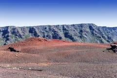 Piton DE La Fournaise vulkaan, Bijeenkomsteiland, Frankrijk Stock Foto