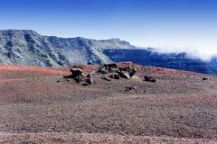 Piton DE La Fournaise vulkaan, Bijeenkomsteiland, Frankrijk Royalty-vrije Stock Afbeelding
