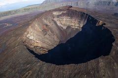Piton De Los angeles Fournaise wulkan, spotkanie wyspa, Francja zdjęcie stock