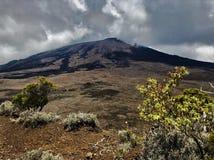Piton De Los angeles Fournaise wulkanu losu angeles spotkania wyspa fotografia stock
