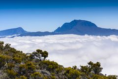 Piton des Neiges, Reunion Island. Piton des Neiges at Reunion Island Royalty Free Stock Images