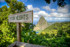 Piton Heights, St. Lucia Royalty Free Stock Image