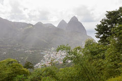 Pitones de St Lucia foto de archivo libre de regalías