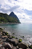 Pitons Photographie stock