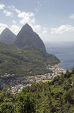 The Pitons Stock Images