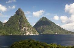 Pitons dello St Lucia Immagine Stock