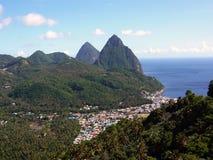 Pitons dello St Lucia Fotografia Stock