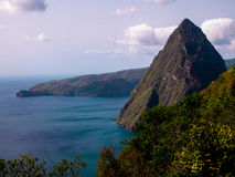 Pitons Royalty Free Stock Photo